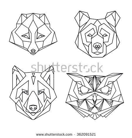 Die besten 17 Ideen zu Geometric Bear auf Pinterest ...