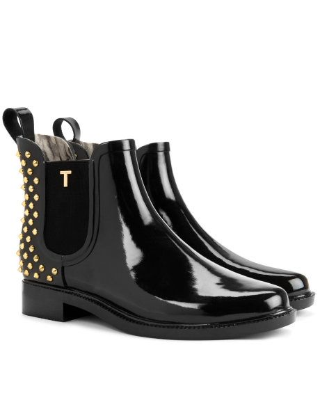 Studded wellington boots - Black | Shoes | Ted Baker