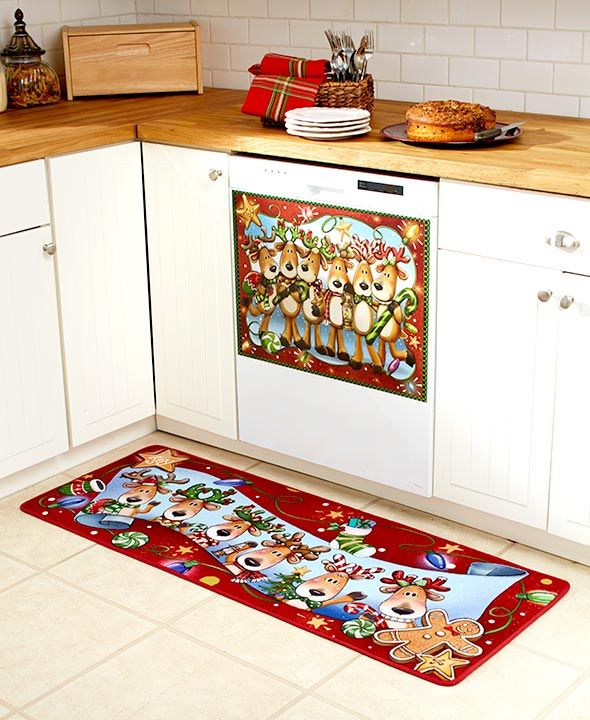 The Whimsical Reindeer Collection Brings Holiday Joy Into Your Kitchen Dishwasher Magnet 22