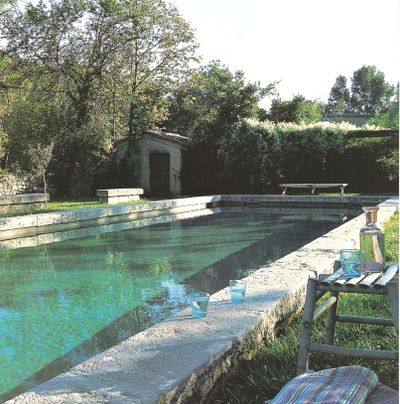 pool and stone