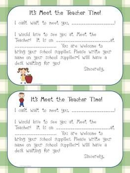 Meet the Teacher postcard