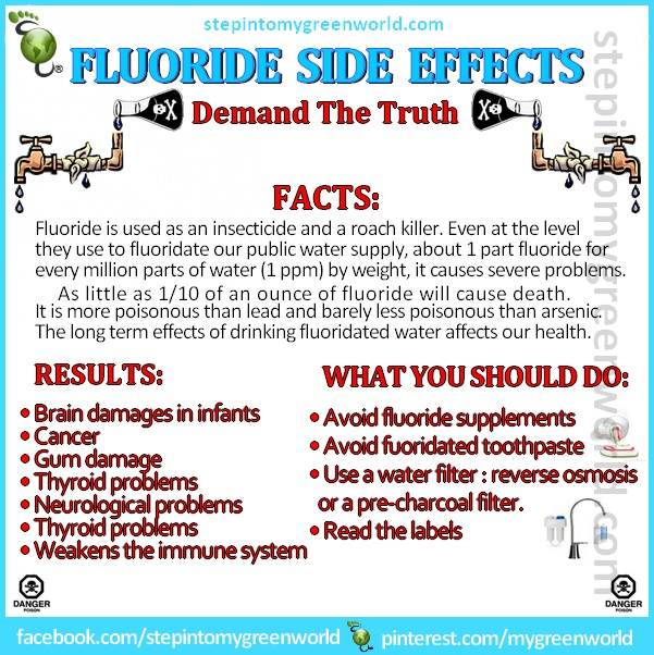 """The """"fluoride"""" added to our water supply is supposed to strengthen our teeth.... So when it is swallowed, what does it do the the rest of our body?!?"""