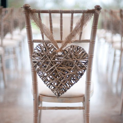 Grey Willow Hanging Heart Large Wedding Decoration, Chair Back, Hanging Heart - The Wedding of My Dreams