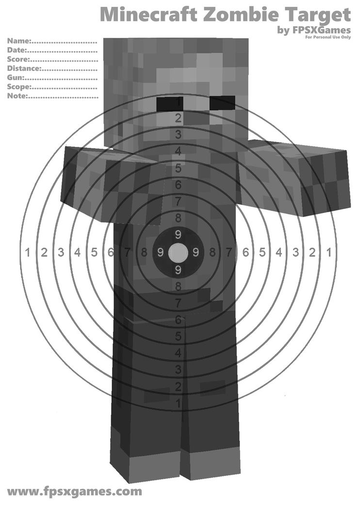 It is a picture of Adaptable Zombie Target Printable