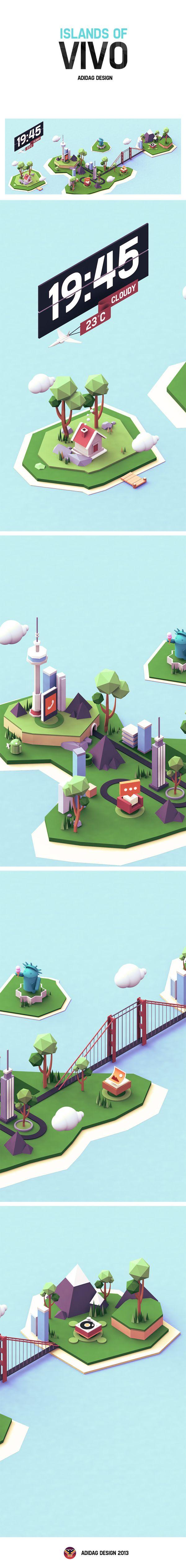 Islands of VIVO by Liu Yuantao -ADIDAG, via Behance