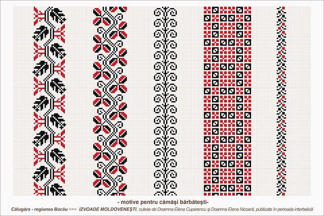 Semne Cusute: Romanian traditional motifs - MOLDOVA - Bacau, Cal...