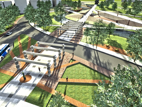 Design Studio 2 * Urban Design Near the River by Berkay Sezen, via Behance