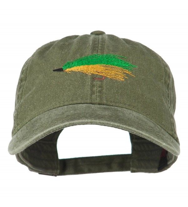 Fishing Green Fly Embroidered Washed Cap Olive Green Ck11ljv9ez3 Washed Cap Cap Olive Green