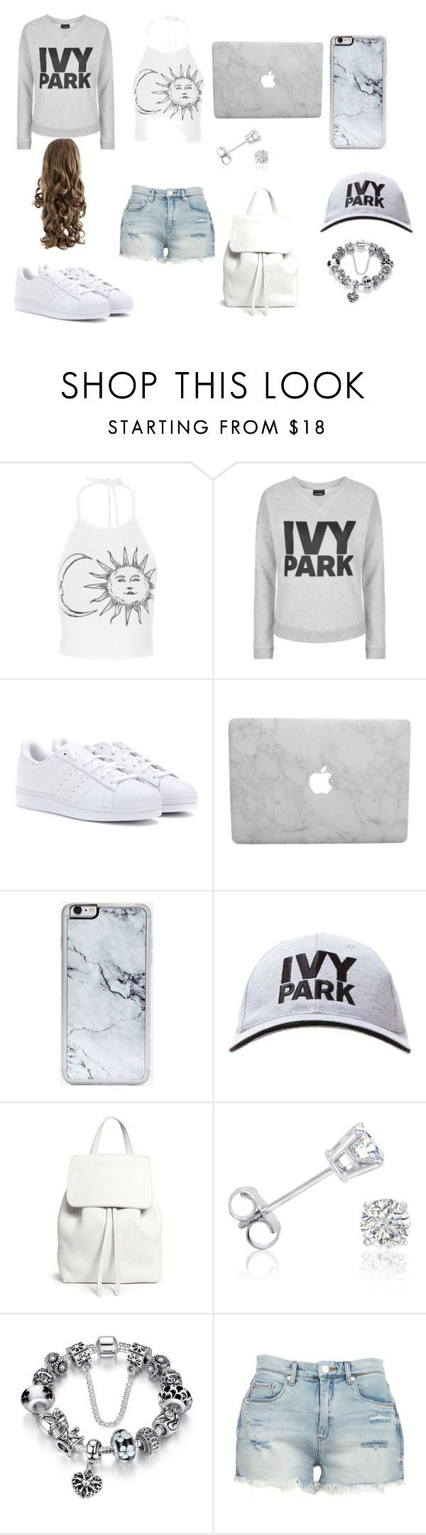 """Outfit 9"" by sarahcb2002 on Polyvore featuring Topshop, adidas, Zero Gravity, Ivy Park, Mansur Gavriel, Amanda Rose Collection and BLANKNYC"