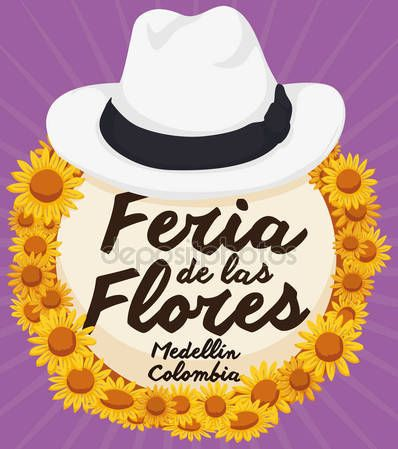 Traditional Straw Arriero Hat with Daisies for Colombian Flowers Festival