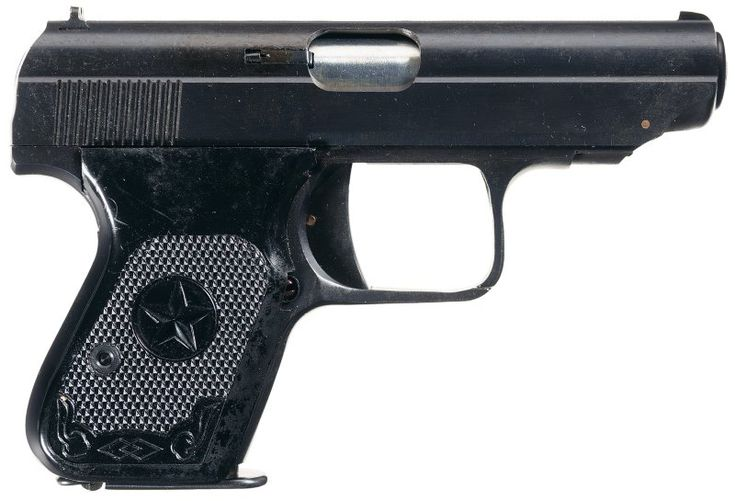The Type 77 7.62x17mm caliber semi-automatic pistol was in service with all branches of the People's Liberation Army of the People's Republic of China, the People's Armed Police, and various Chinese police forces.
