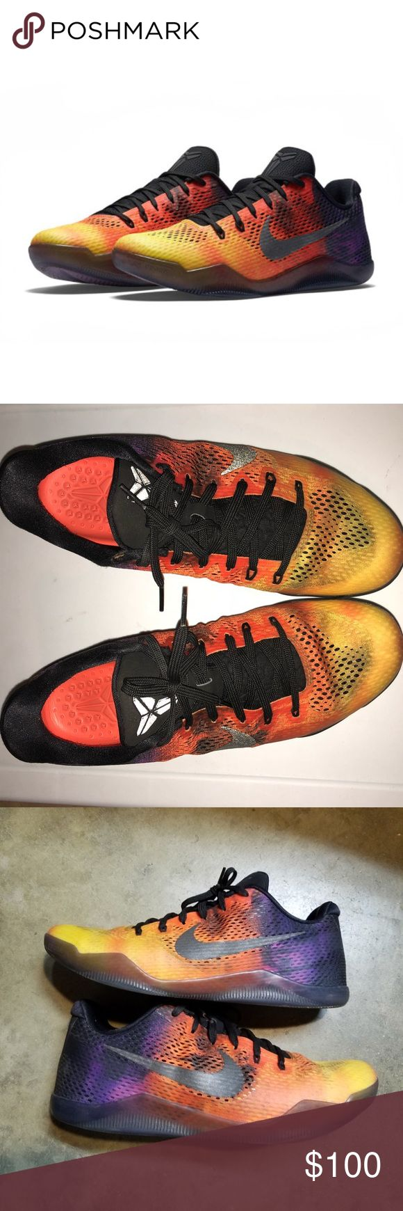 Kobe 11 sunset shoes size 12.5 Kobe 11 sunset shoes size 12.5. Like new condition. Only worn 2-3 times. Sorry, no trades. Nike Shoes Athletic Shoes