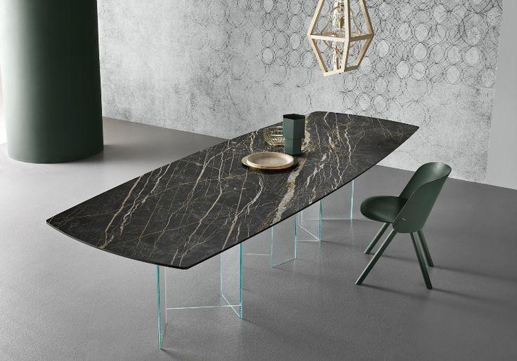 tischplatte marmor optik gold faden klarglas tischgestell. Black Bedroom Furniture Sets. Home Design Ideas