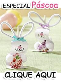 Coelhinhos com pirulitos para a Páscoa.