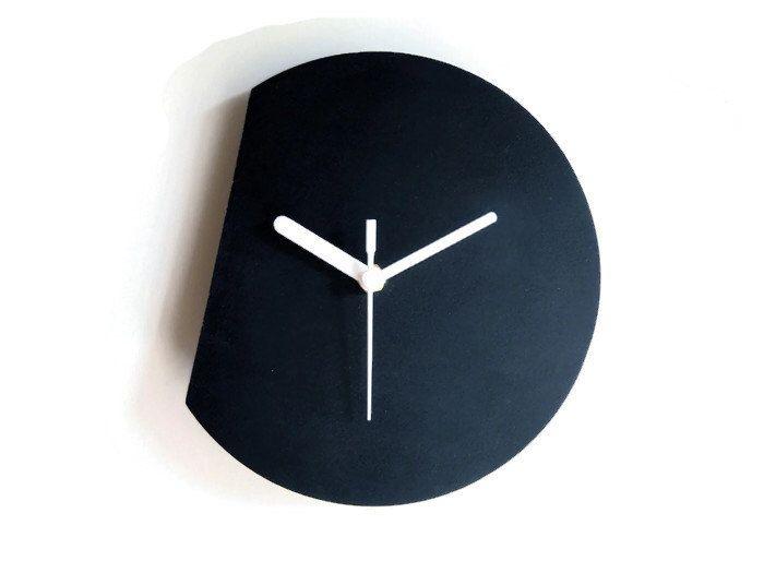 Laser cut wood modern wall clock,silent wall clock,minimal wall clock,small wall clock,minimalist wall clock,colorful wall clock,wood clock by DigitalHandmade on Etsy https://www.etsy.com/listing/229526842/laser-cut-wood-modern-wall-clocksilent