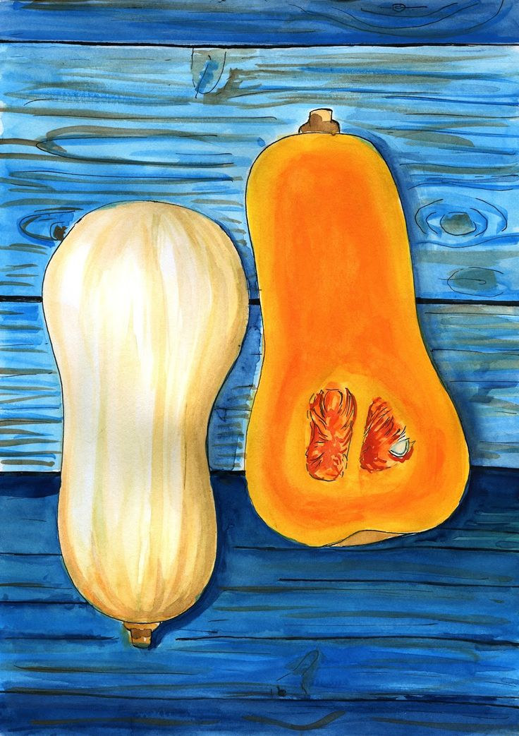 food-illustrations: Ciasto dyniowe