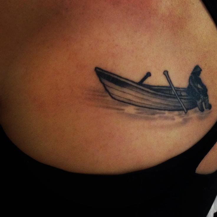 Dory tattoo Newfoundland fisherman