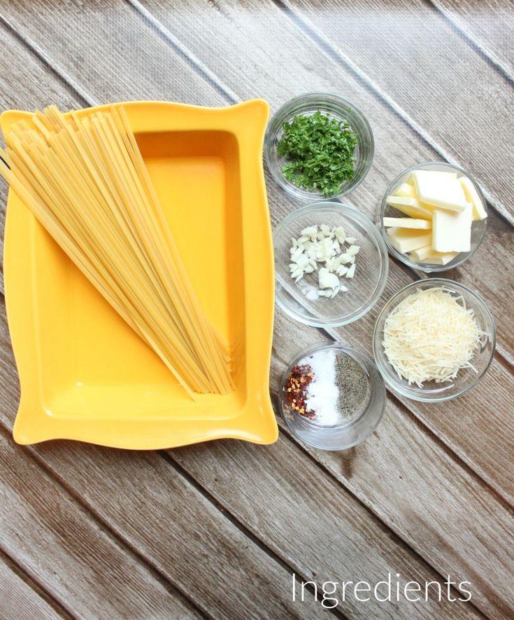 Parmesan Garlic Spaghetti Ingredients