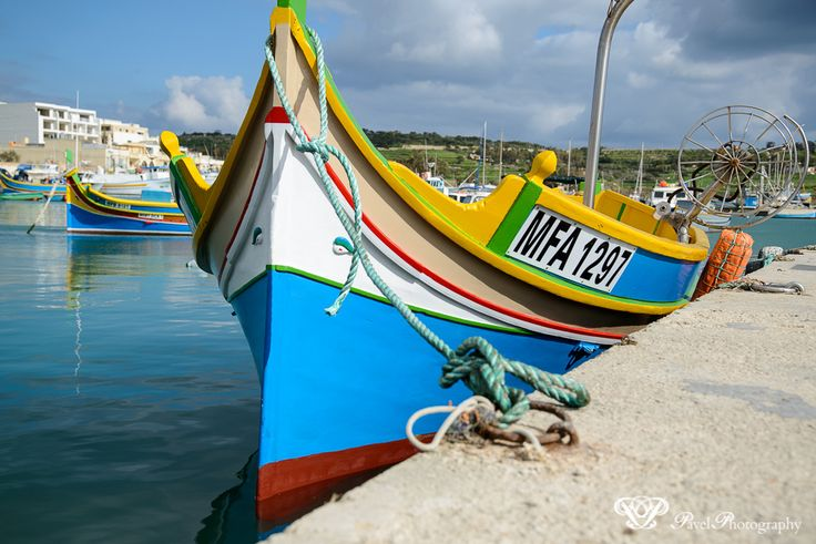 Marsaxlokk fishing village.