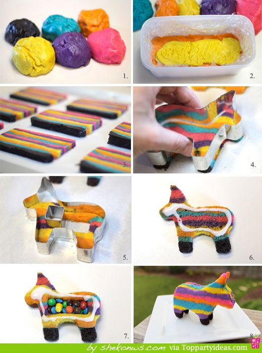 Instructions to make Cinco De Mayo Piñata Cookies    Parte 1    http://www.toppartyideas.com/pinata-cookies-for-cinco-de-mayo-or-mexican-theme-party/