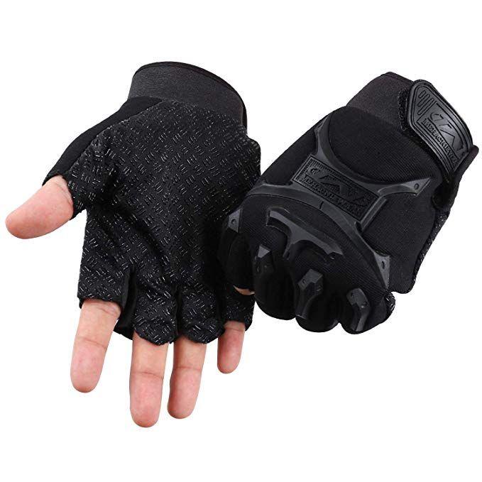 Cosmoslife Fingerless Gloves For Kids Children Fingerless Short Gloves For Cycling Mtb Exercise Skate Skateboard Roller S Gloves Cycling Gloves Outdoor Gloves