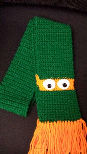 Ninja turtle crochet scarf