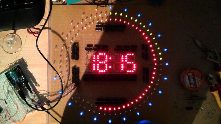 Arduino LED Clock - YouTube