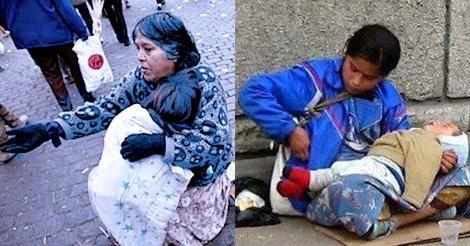 ¿Por qué el niño que cargan los limosneros siempre está dormido?