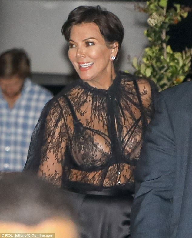 Kris Jenner Wears See Through Top For Dinner With Jada Pinkett Smith