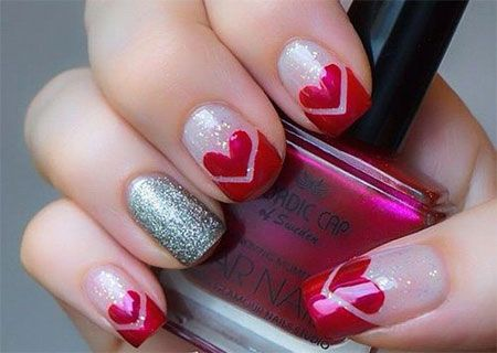 Best 25+ Valentine Nail Designs Ideas Only On Pinterest | Valentine Nails, Valentine  Nail Art And Heart Nail Designs