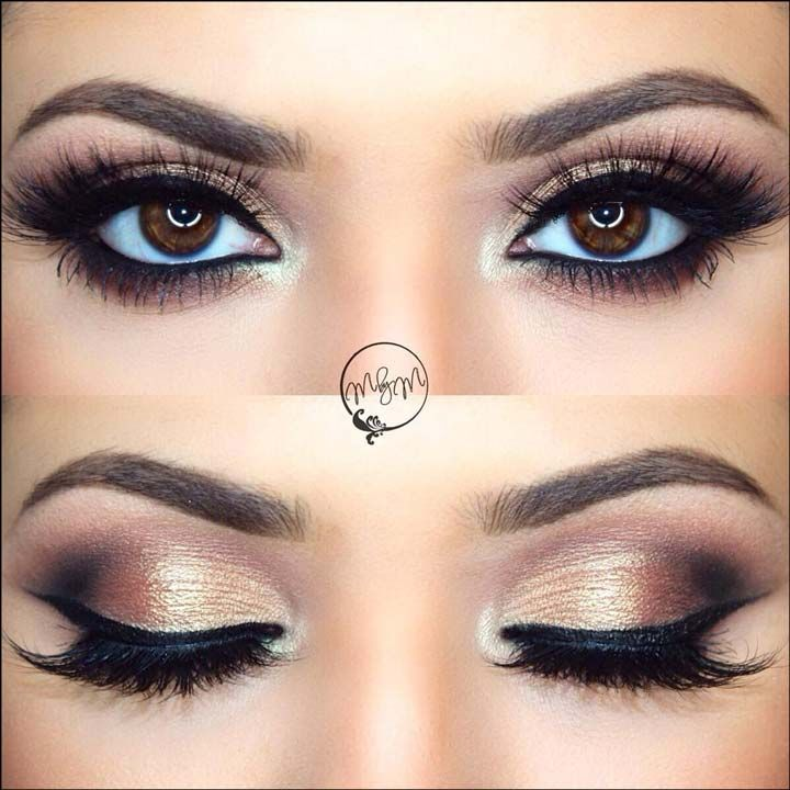 The unique selling point of this bridal eye makeup is the copper eye shadow…