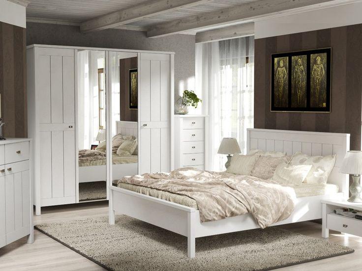 Meble sypialniane białe w stylu angielskim Willage FM BRAVO