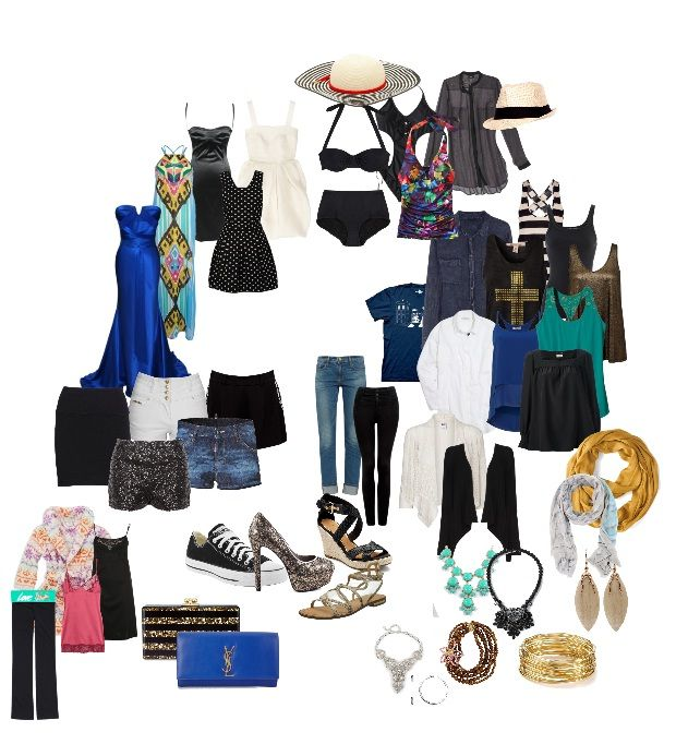 My Cruise Wardrobe. Everything has been chosen specifically so it can be mixed and matched. 8 Days, Bahamas Cruise