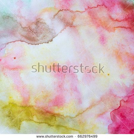 Bright watercolor background. Summer colors.