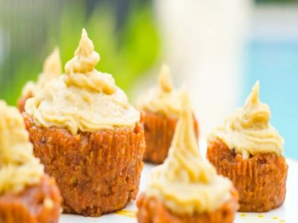 FullyRaw Carrot Cupcakes With Orange Vanilla Cream Frosting Recipe Video by Kristina Carrillo-Bucaram | ifood.tv