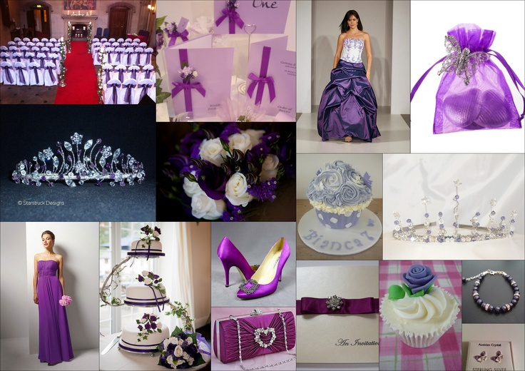 Purple Wedding Inspiration...just in case you need some more ideas. I like the invitations...