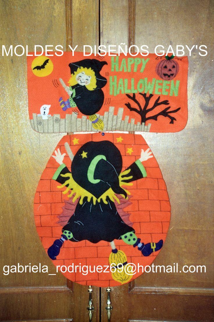 Jgo De Ba 209 O De Bruja Estampada Halloween Y Dia De