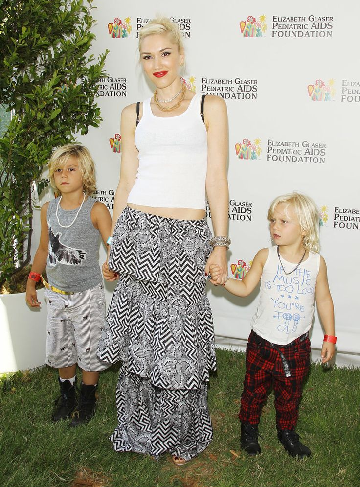 Gwen Stefani's adorable kids Kingston and Zuma accompanied her to a charity event in LA.