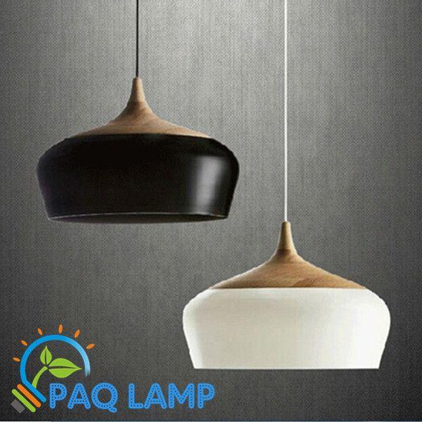 Современные лампы подвесные светильники дерева и алюминия лампы черный / белый ресторан кафе бар столовая из светодиодов висячие светильники купить на AliExpress