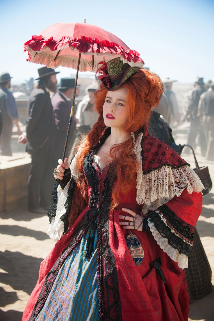 Helena Bonham Carter plays Red Harrington in The Lone Ranger, 2013. Costume Designer Penny Rose