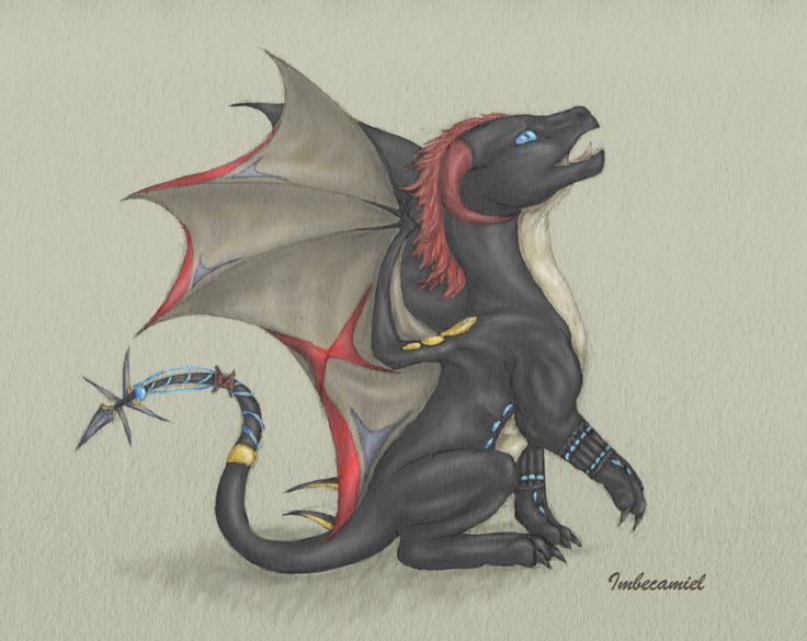 Baby Black Widow (Natasha Romanov) Dragon by Imbecamiel.deviantart.com on @deviantART