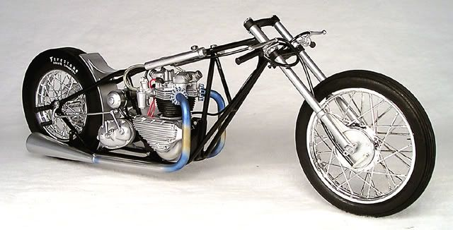 Vintage Triumph drag bike