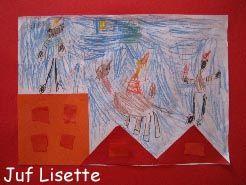 Plakboek: Sint en Piet op het dak
