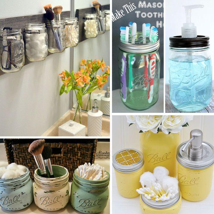 Cam kavanozlardan ilginç banyo eşyası tasarımları.. Evinizde kullanmadığınız cam kavanozları bu muhteşem tasarımlara dönüştürerek banyonuzun atmosferini değiştirebilirsiniz. #evliliktrendleri