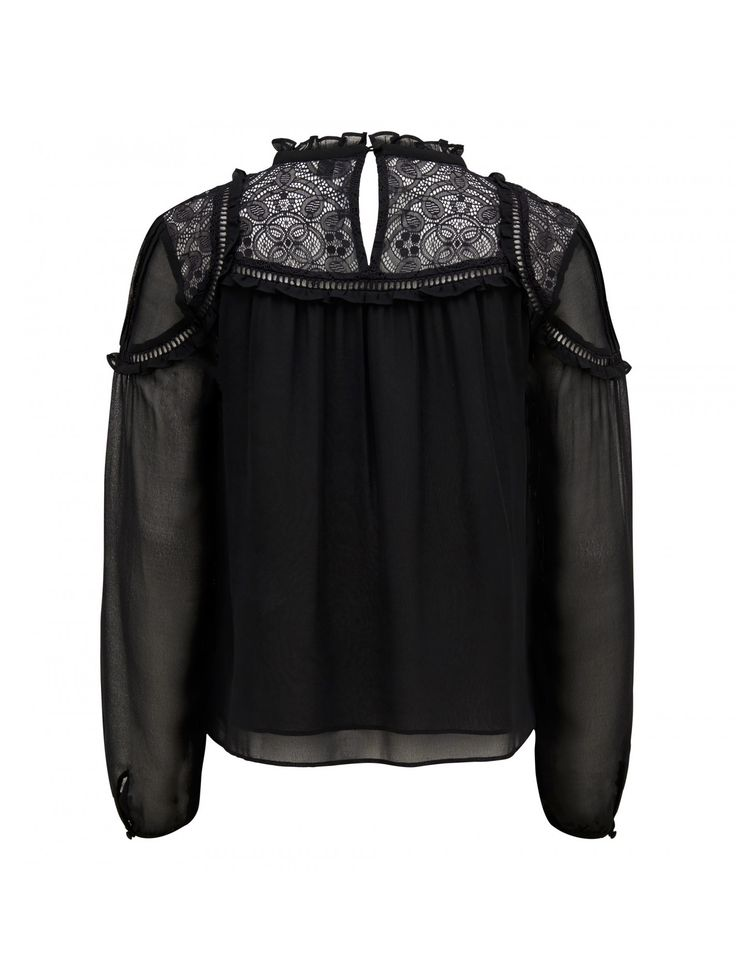 Discover a new wardrobe favourite and channel chic sophistication with our Marcy Lace Yoke Victorian Blouse, sure to see you transition effortlessly from day to night.