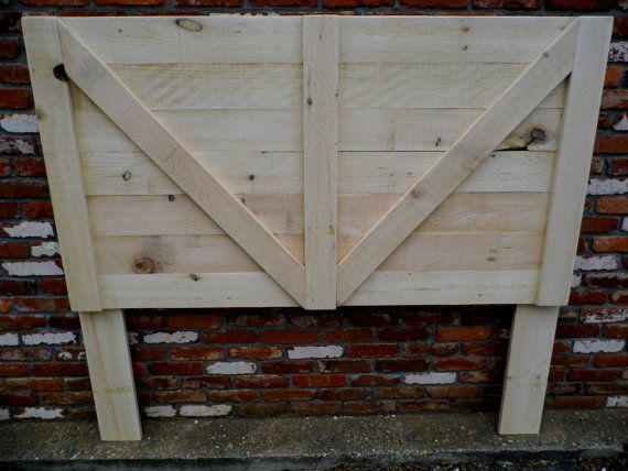 Rough Sawn White Pine Headboard by DixonandDad on Etsy