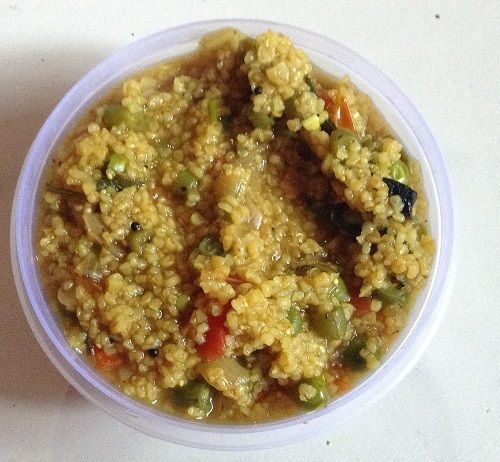 Broken Wheat Upma with Mixed Vegetables for Babies and Kids