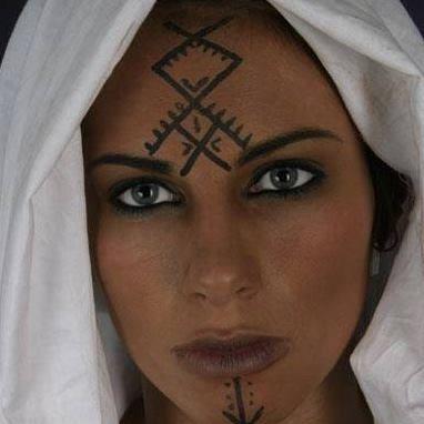 "• Amazigh ""berber "" woman with facial tattoos"
