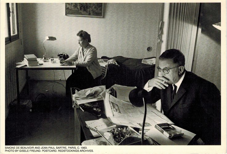 Жан-Поль Сартр и Симона де Бовуар