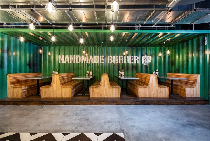 Handmade Burger Co Restaurant by Brown Studio, Birmingham – UK » Retail Design Blog
